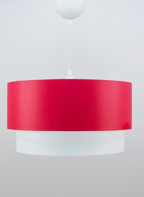 Crea Lighting Doubleshade Large Sarkıt 40cm-3 Ampul Kırmızı